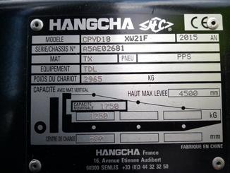 Four wheel counterbalanced forklift Hangcha XF18G - 8