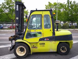 Four wheel counterbalanced forklift Clark C55SD - 2