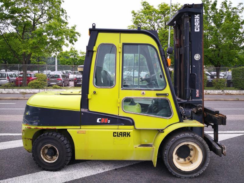Four wheel counterbalanced forklift Clark C55SD - 1