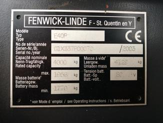 Four wheel counterbalanced forklift Fenwick E40P - 4