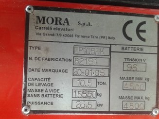Four wheel counterbalanced forklift Mora EP105RK - 8