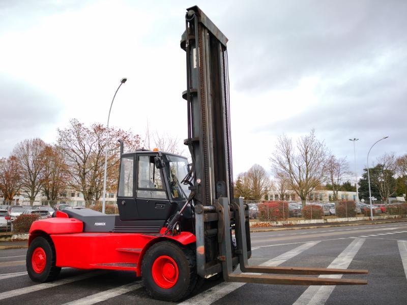 Four wheel counterbalanced forklift Linde H160D-1200 - 1