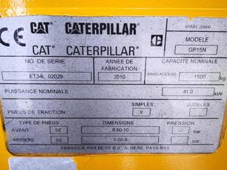 Four wheel counterbalanced forklift Caterpillar GP15N - 9