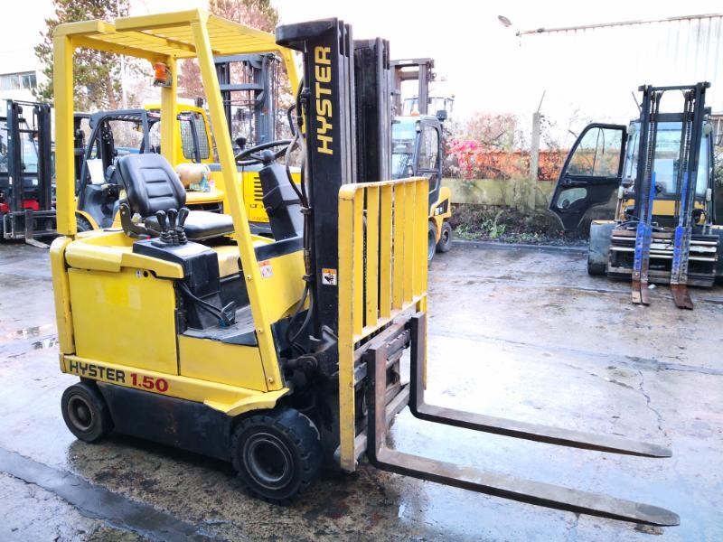 Four wheel counterbalanced forklift Hyster E1.50XM - 1