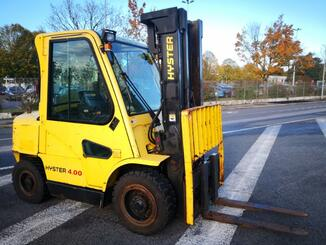 Four wheel front forklift Hyster H4.00XM - 1