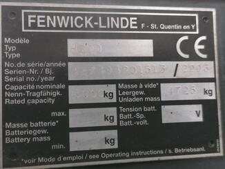 Four wheel front forklift Fenwick H30D - 8